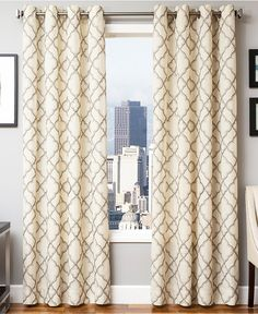 CLOSEOUT! Softline Yvette Grommet Top Panel Collection - Window Treatments - For The Home - Macy's