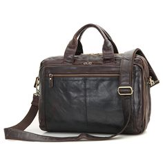 91.75$  Watch here - http://ali7qz.worldwells.pw/go.php?t=32738491143 - JMD Vintage Leather Handbag Briefcase For Lawyer Laptop Bag Top Handle Business Bag 7230Q