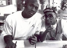Spike Lee and Michael Jordan