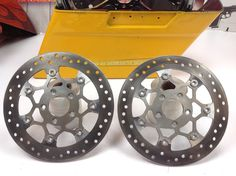 "08-18 OEM Harley CVO Touring Front Full Floating Brake Rotors 11.8"" or 11 7/8"" Brake Rotors, Motorcycle Parts, Touring, Oem, Stuff To Buy"