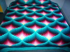 Crochet Afghan Pattern: Pyramid Afghan