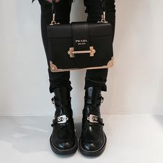 WEBSTA @ elle_ferguson - Current favs... And a little tough pretty #prada #balenciaga