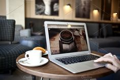 MacBook Pro and coffee by show it better on @creativemarket