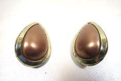 Mocha Chocolate Earrings Large Teardrop by BonniesVintageAttic