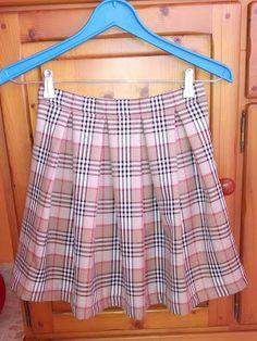 El rincón de mis labores: Falda tableada y tutorial bolsa ecológica de tela ...