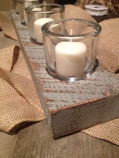 Wooden candle holder on Etsy, $30.00