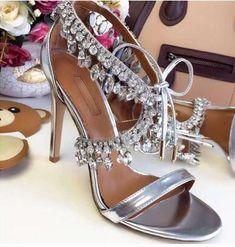 Hot Milla Crystal Fringe Suede Sandals Embellished Gladiator Sandals Sexy High Heels Pumps Lace Up Bling Wedding Shoes Woman