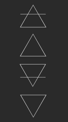 4 elements | Tumblr Line Tattoos, Body Art Tattoos, Small Tattoos, Tatoos, Element Tattoo, Pattern Wallpaper, 4 Elements, Zodiac Elements, Graphics