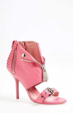 Moschino 'Moto Jacket' Leather Sandal (Women) available at #Nordstrom