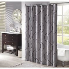 Shop for Madison Park Marcel Shower Curtain--3 Color Options. Free Shipping on…