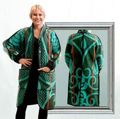 Blanket coats made from Traditional Lesotho blankets. WEISS Cape Town in South . - Blanket coats made from Traditional Lesotho blankets. WEISS Cape Town in South Africa - African Wear, African Women, African Outfits, African Attire, Shweshwe Dresses, Blanket Coat, Cute Coats, African Culture, African Print Fashion