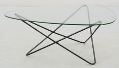 Jacques Tournus coffee table for Airborne, France, Metal Furniture Legs, Table Furniture, Modern Furniture, Furniture Design, Coffe Table, Scandinavian Modern, Table Legs, Small Living, Mid-century Modern