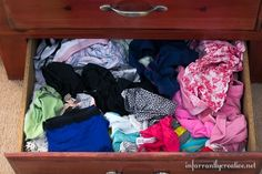 Does your undie drawer look like this??? Organize it with PVC pipe!
