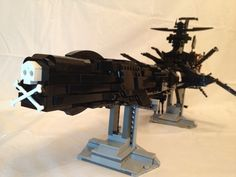 Arcadia / Atlantis / Albator / Captain Harlock / Spaceship: A LEGO® creation by Didier B : MOCpages.com
