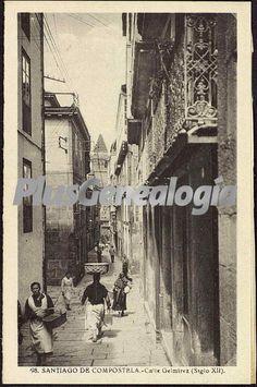 Foto antigua de Calle Gelmirez (Siglo XII) de Santiago de Compostela