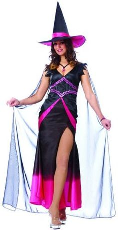 Pink and Black  Fabulous Witch Costume  MEDIUM ** Check out the image by visiting the link.