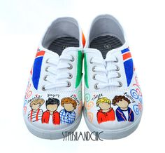 One Direction Shoes  Hand Painted by StylishAndChic on Etsy, $79.95