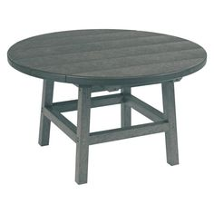 CR Plastic Generations 32 in. Round Cocktail Table Slate Gray - TBT01-18