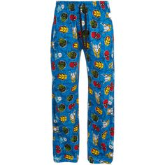 #Marvel Comics Men's #Avengers Lounge Pants Blue