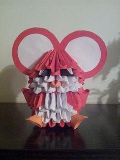 ORIGAMI 3D. Raton rojo, piezas de 10x6.