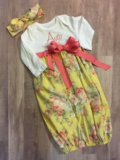 Newborn Baby Girl Gifts, Take Home Outfit, Floral Gown, Gowns For Girls, Newborn Pictures, Birthday Wishes, Baby Shower Gifts, Spice, Sugar