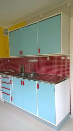 My 50's inspired kitchen, built by my husband.