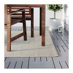 MORUM Teppich flach gewebt - drinnen/draußen beige, 160x230 cm - IKEA