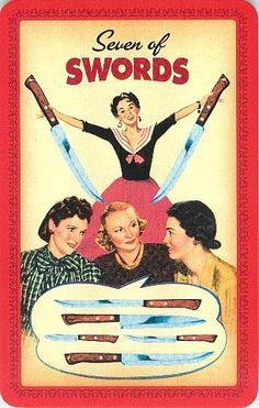Seven of Swords - Housewives Tarot