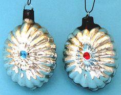 Glass Ajeko Christmas Ornaments
