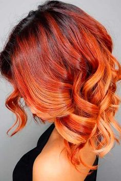 Short Red Hair Color Ideas - There are many short hairstyles that look chic and trendy and we have collected the best ever ideas for you. If you have red hair or you are going to dye it soon with red color, then we offer you combine it with short haircut Funky Hair Colors, Red Hair Color, Red Color, Copper Hair Colour, Cheveux Oranges, Short Red Hair, Short Ombre, Short Copper Hair, Brown Ombre Hair