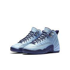 watch e7c98 41ec5 Nike Air Jordan XII 12 Retro GG Bluecap Metallic Silver Grade-School  510815-418 Size 5 Medium