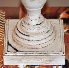 The Inspired Nest: Pottery Barn Finial Tutorial