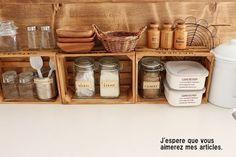 ●キッチン内部のあれこれ*DIYしたカウンターの裏側と、男前色に変えた収納と● の画像|・:*:ナチュラルアンティーク雑貨&家具のお部屋・:*