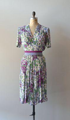 vintage 1930s dress / silk 30s dress / Spoon Mum by DearGolden, $274.00