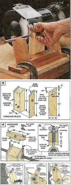 Bevel Grinding Jig - Sharpening Tips, Jigs and Techniques | WoodArchivist.com