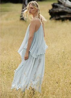 Gemma Ward wears Lark Maxi Dress for Free People March 2016 Lookbook photoshoot
