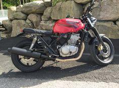 Honda Scrambler, built out of CB 500 2001 Custom Motorcycles, Custom Bikes, Cars And Motorcycles, Cb 500 2001, Cb 500 Cafe Racer, Cb400 Super Four, Garage Cafe, Honda Cb 500, Honda Scrambler