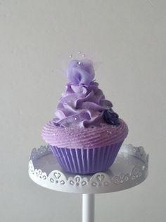 Marie Antoinette inspired Lavender Fake by FakeCupcakeCreations Purple Cupcakes, Fake Cupcakes, Yummy Cupcakes, Cupcake Boutique, Soap Cake, Fantasy Cake, Cupcake Images, Cupcake Wars, Amazing Wedding Cakes