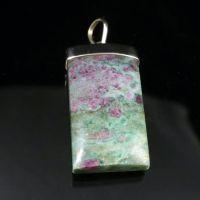 Ruby Fuchsite Silver Pendant