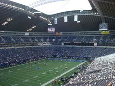 Texas Stadium playing field. It was located in Irving, Texas, a suburb west of Dallas, Texas. Opened in October 1971, it was the home field of the NFL's Dallas Cowboys for 38 seasons, through 2008, and had a seating capacity of 65,675.  Texas Stadium was demolished on April 11, 2010 by a controlled implosion.