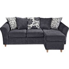 Buy Living Isabelle Movable Storage Corner Sofa - Charcoal at Argos.co.uk - Your Online Shop for Sofas.