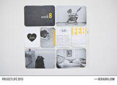 project life 2013 | week 8 - left side  #projectlife #projectlife2013 #scrapbooking