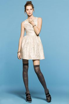 Cooperative Metallic Tapestry Fit & Flare Party Dress #urbanoutfitters