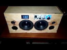 Homemade portable bluetooth boombox - YouTube