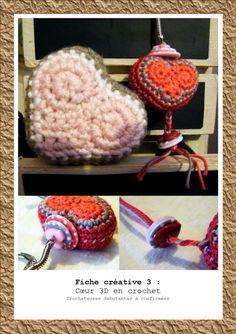 fiche créative : coeur en 3D tutoriel, pattern