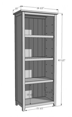 DIY Furniture Plan from Ana-White.com How to build a rustic wood bookshelf. Free plans, shopping list, cut list and real photos to help you build your own bookshelf.