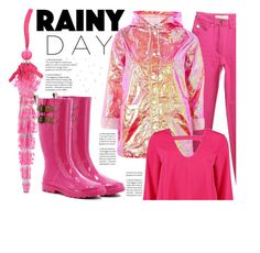 """""""Rainy Day"""" by marionmeyer on Polyvore featuring Mode, Marc by Marc Jacobs, MCM, Topshop, Boohoo und rainyday"""