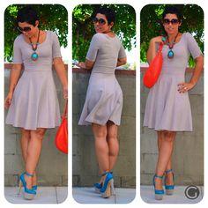 OOTD: #H Dress with Wild Pair Platforms and #KateSpade Bag