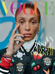 Publication: Vogue Italia December 2015 Model: Adwoa Aboah Photographer: Tim Walker Fashion Editor: Jacob K Hair: Cyndia Harvey Make-up: Sam Bryant