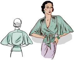 1930's butterfly blouse, would look great with the pants.